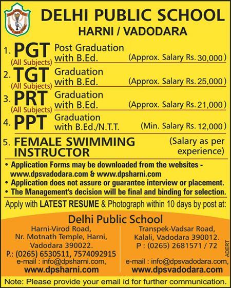 Recruitment_ad Online Job Form Vadodara on lakshmi vilas palace, city pics, bus station, nyay mandir, city gujarat india, tourist places,